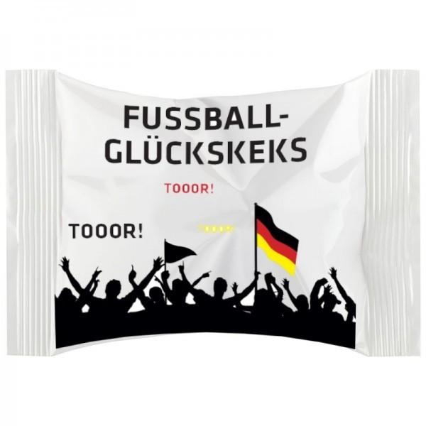 Fußball-Glückskeks in weißer Folie